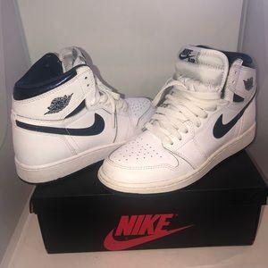 Air Jordan 1 Retro High White/ Midnight Navy